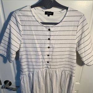 Roolee modest striped dress